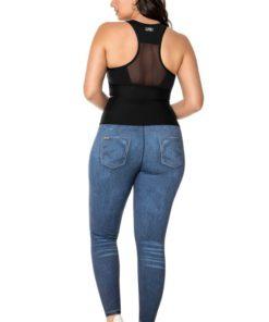 Calça Fusô Jeans Dupla Face Plus Size