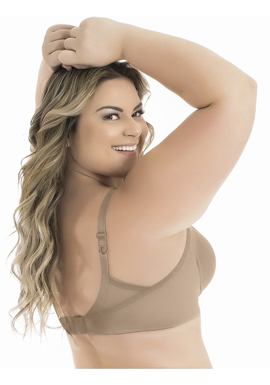 Sutiã Plus Size com Bojo e Laterais Largas