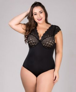 Body Plus Size com Renda Redutor